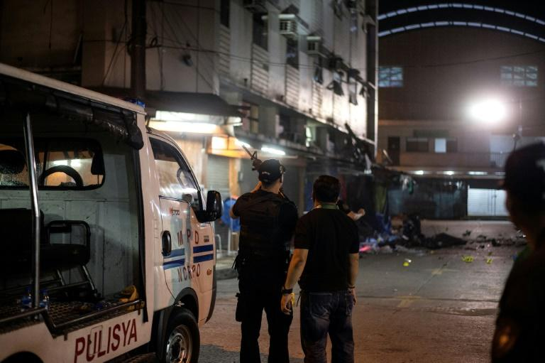 Blast rocks Manila, killing two