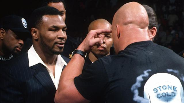 Who doesn't remember the time Mike Tyson shoved Stone Cold Steve Austin on Monday Night Raw? (Courtesy of WWE.com)