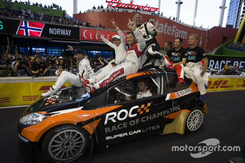 "ROC celebrations<span class=""copyright"">Race of Champions</span>"