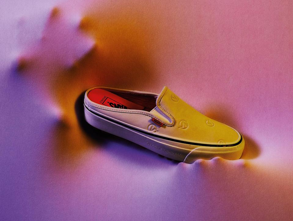 """<p><span>White Vans by Vault x LQQK Slip-Ons OG Style 17 Mule LX</span> ($140) </p> <p>""""I love this new Vans silhouette, which is a collaboration between the company and Brooklyn-based screen-printing and design collective LQQK Studio. The logo is beautifully etched into the upper of the shoe and - hallelujah! - they're easier to put on than high-tops."""" - SW </p>"""
