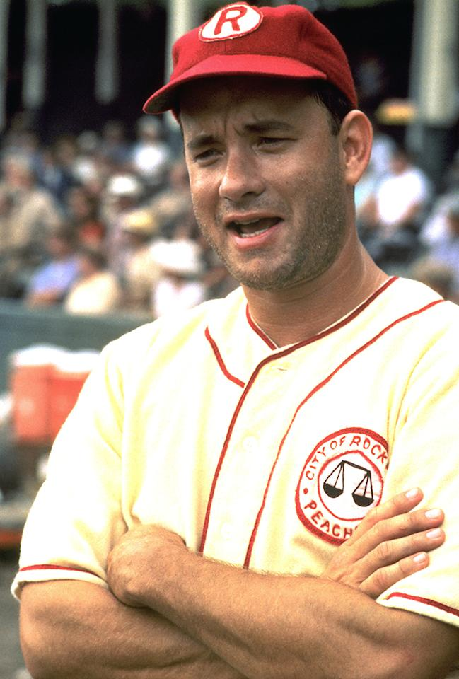 """<b>Manager: Jimmy Dugan </b>(Tom Hanks) in """"A League of Their Own"""" -- With so many personalities, including a potential diva or two (we're looking at you, Vaughn), it's imperative to have a strong manager who can keep the team focused, upbeat, and well-reminded of where crying belongs (here's a hint: it's not in baseball)."""