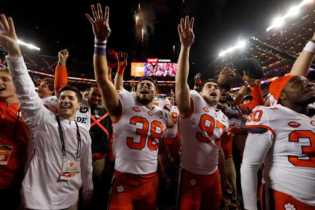 Clemson is a favorite to win it all again. (Photo by Nhat V. Meyer/MediaNews Group/The Mercury News via Getty Images)