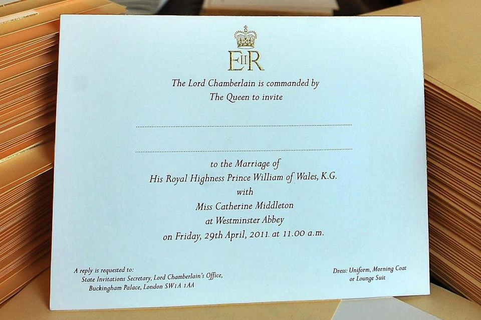 """<p>The bride used her full name on the <a href=""""https://www.goodhousekeeping.com/life/a19576839/prince-harry-and-meghan-markle-wedding-invitations/"""" rel=""""nofollow noopener"""" target=""""_blank"""" data-ylk=""""slk:invites"""" class=""""link rapid-noclick-resp"""">invites</a> that went out to all 1,900 guests.</p>"""