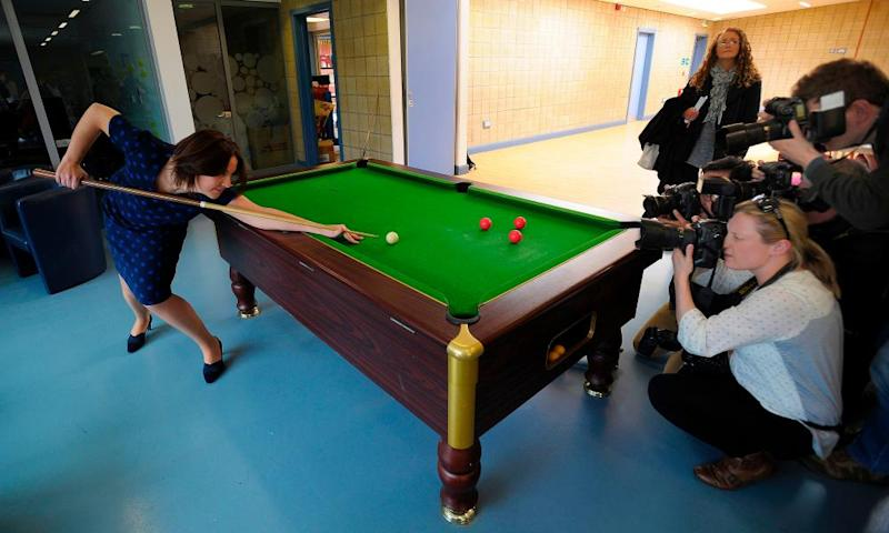 Scottish Labour leader Kezia Dugdale takes aim in Easterhouse, Glasgow, last week.