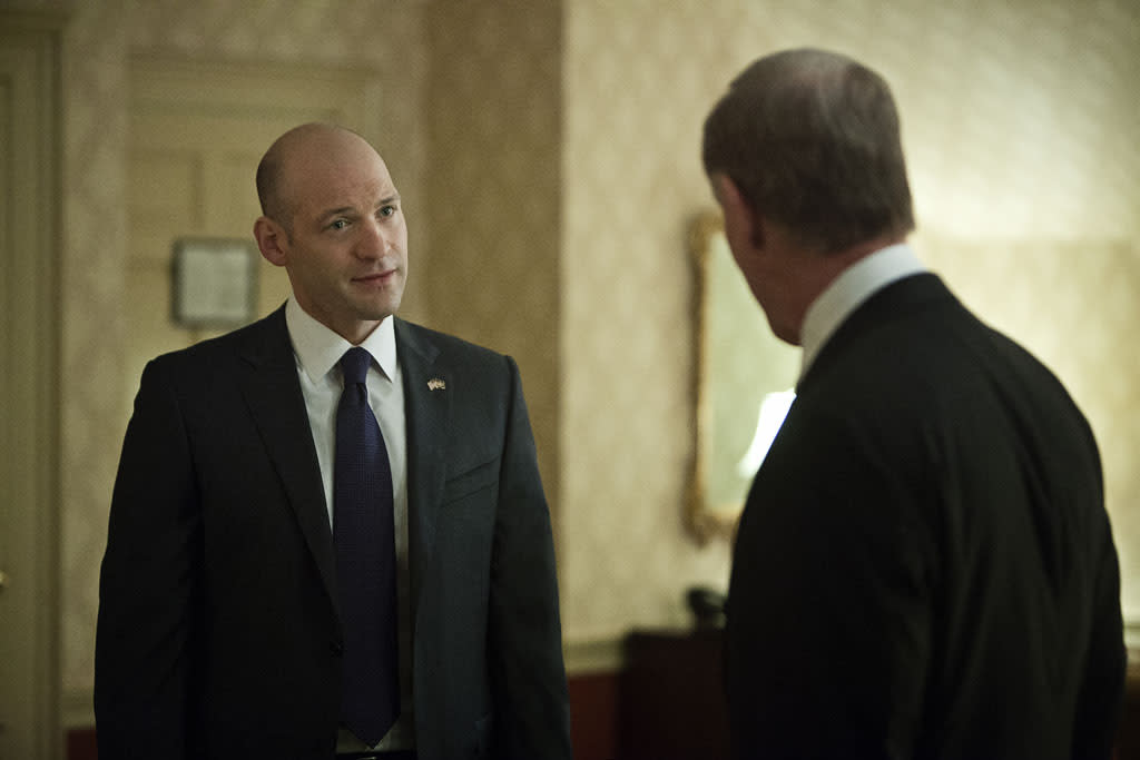 "Corey Stoll and Dan Ziskie in the ""House of Cards"" Season 1 episode, ""Chapter 9."""