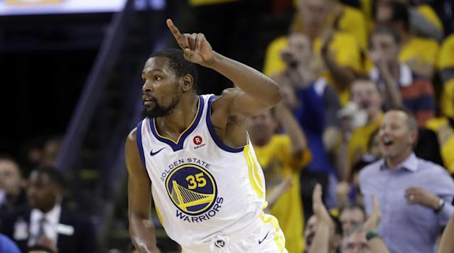 Kevin Durant will reportedly re-sign with the Warriors this summer, according to ESPN.
