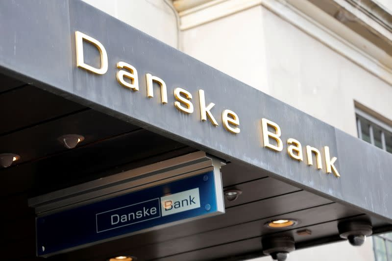 FILE PHOTO: Danske bank signs are seen on a bank's headquarters in Copenhagen
