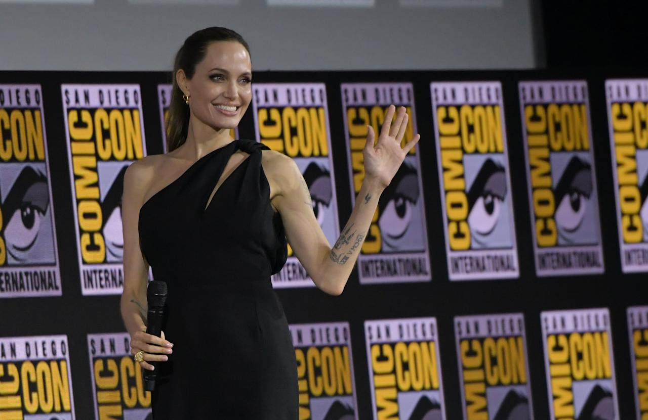 Angelina Jolie Embraces a New Marvel Role at Comic-Con, but Her Outfit Is an Old Favorite