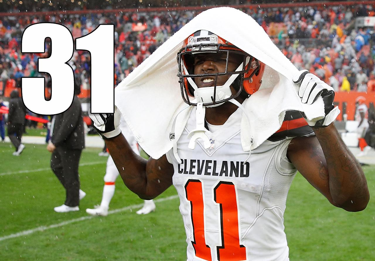 <p>Well, the Browns aren't last anymore. (Antonio Callaway) </p>