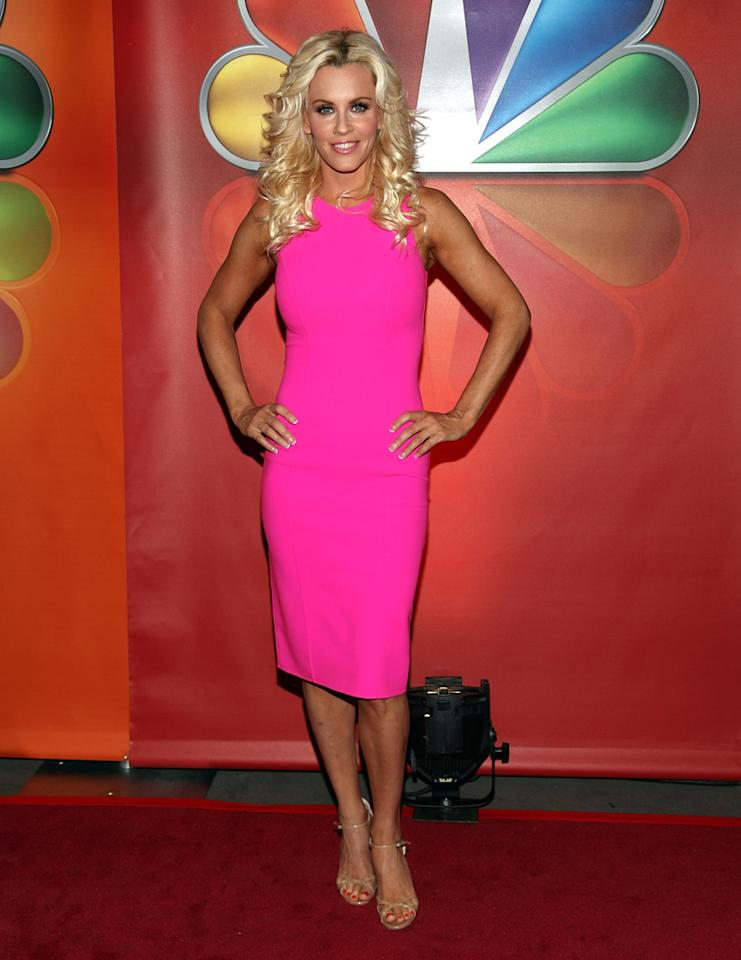 "Jenny McCarthy (""Love in the Wild"") attends NBC's 2012 Upfront Presentation at 51st Street on May 14, 2012 in New York City."