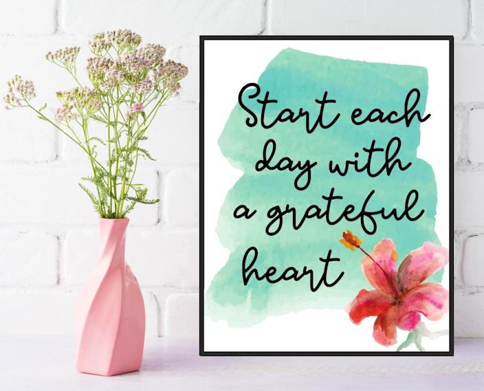 <p>The <span>Grateful Heart Wall Art</span> ($5, and up) is a reminder we all need to start our day.</p>