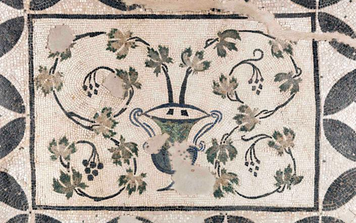 A total of nine mosaics was found in the remains of the Roman villa
