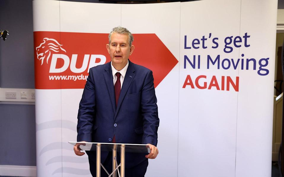 """Edwin Poots said he looks forward """"to a positive relationship right across Northern Ireland"""" - PA"""