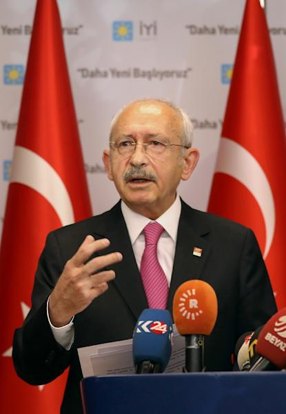 Kilicdaroglu's opposition CHP won Ankara and Istanbul from President Recep Tayyip Erdogan's AKP in March 31 local elections (AFP Photo/Adem ALTAN)