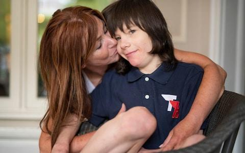 Charlotte Caldwell with her son Billy - Credit: Geoff Pugh for the Telegraph