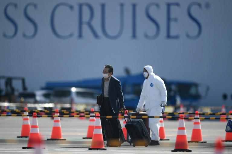 There are worries over allowing former Diamond Princess passengers to roam freely around Japan's notoriously crowded cities, even if they have tested negative for the coronavirus (AFP Photo/CHARLY TRIBALLEAU)