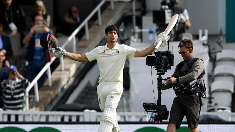 Cook's farewell century helps England close in on victory