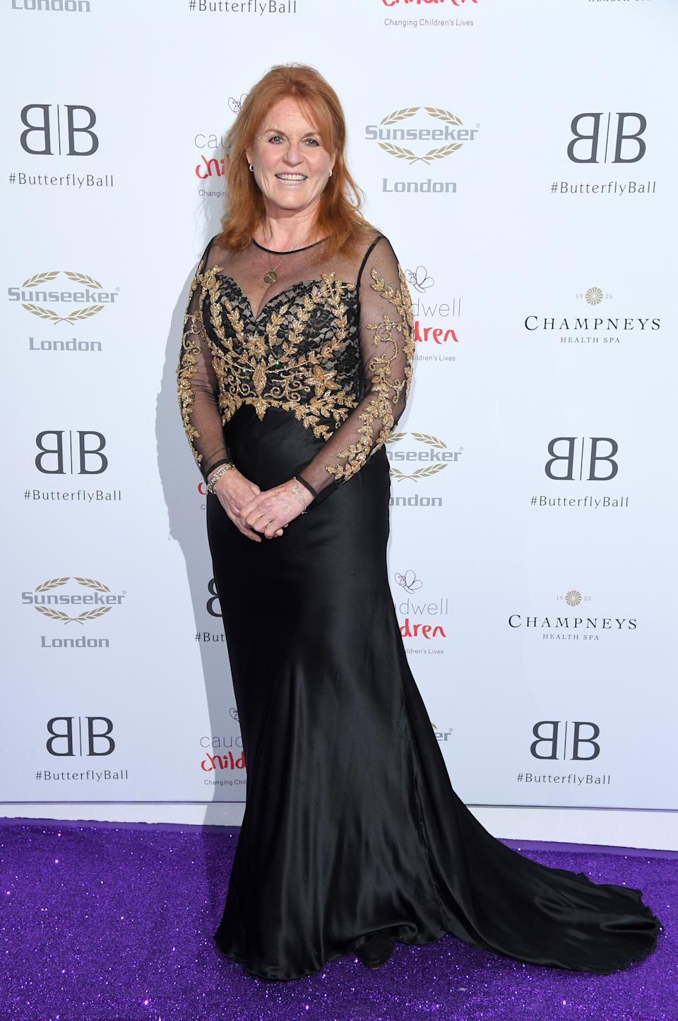 The Butterfly Ball 2019, Sarah Ferguson arrived in a sheer gown