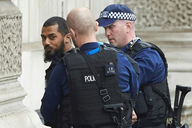 Arrest: Armed police arrested the suspect near Parliament: AFP/Getty Images