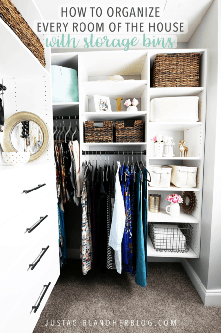 "<p>When it comes to closet organization, there are some things that just don't have a logical place to go. To keep clutter at bay, employ storage baskets to corral odds and ends. </p><p>See more at <a href=""https://justagirlandherblog.com/organize-every-room-of-the-house-with-storage-bins/"" rel=""nofollow noopener"" target=""_blank"" data-ylk=""slk:Abby Lawson"" class=""link rapid-noclick-resp"">Abby Lawson</a>. </p><p><a class=""link rapid-noclick-resp"" href=""https://www.amazon.com/TheWarmHome-Decorative-Rectangular-Organizer-15-7L×11-8W×8-3H/dp/B01HPKJBKC?tag=syn-yahoo-20&ascsubtag=%5Bartid%7C10072.g.29994972%5Bsrc%7Cyahoo-us"" rel=""nofollow noopener"" target=""_blank"" data-ylk=""slk:Shop Storage Basket"">Shop Storage Basket</a></p>"