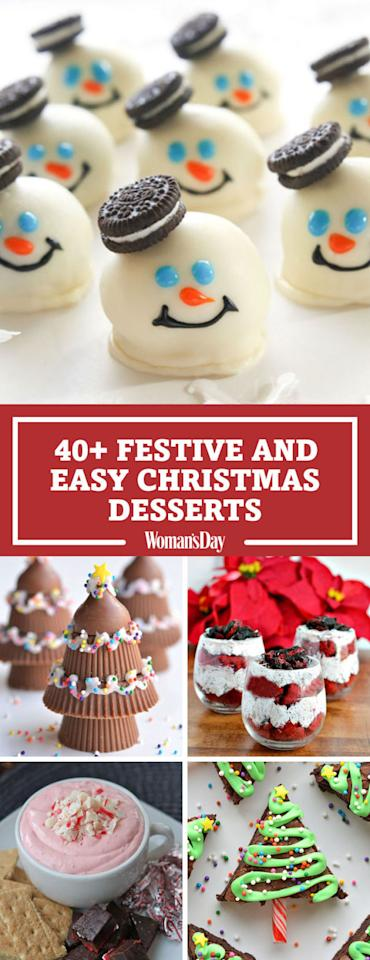 """<p>Save these Christmas dessert recipes for later by pinning this image and follow Woman's Day on <a rel=""""nofollow"""" href=""""https://www.pinterest.com/womansday/"""">Pinterest</a> for more. </p>"""