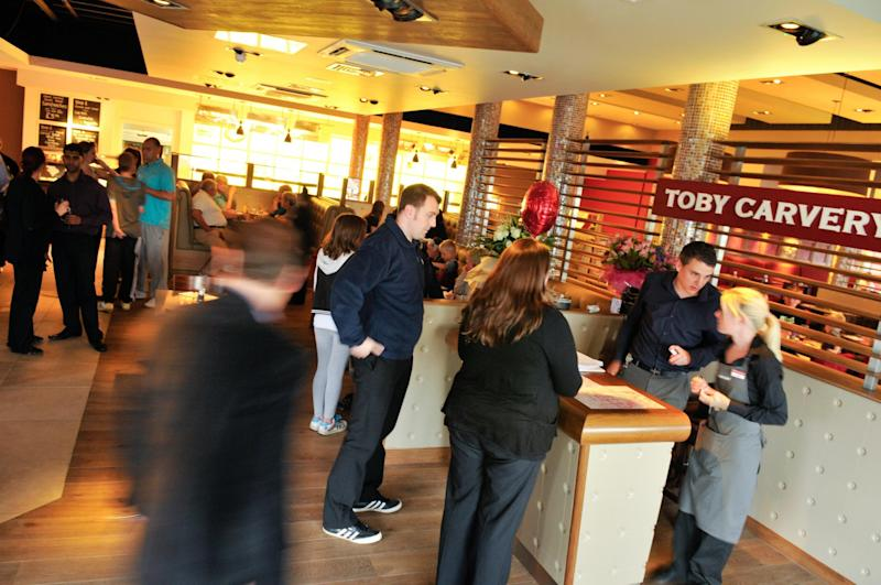Pubs chain Mitchells & Butlers is behind brands such as Toby Carvery