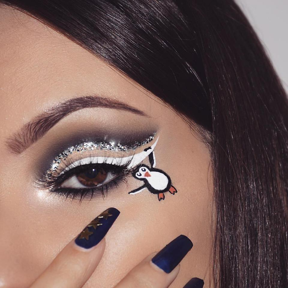 "<p><a rel=""nofollow"" href=""https://www.instagram.com/nasiabelli/"">Nasia Belli</a> lightens up a glam cut crease with a <a rel=""nofollow"" href=""https://www.instagram.com/p/BNKmBY-BWP5/?taken-by=nasiabelli"">playful arctic animal</a>. (Photo: Instagram) </p>"