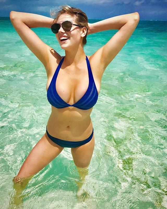 "<p>Even if the model didn't write this into her caption, it was somehow clear she was having ""#funinthesun"" on her Turks & Caicos trip. (Photo: <a href=""https://www.instagram.com/p/BTByzsiDUg4/"" rel=""nofollow noopener"" target=""_blank"" data-ylk=""slk:Kate Upton via Instagram"" class=""link rapid-noclick-resp"">Kate Upton via Instagram</a>)<br><br></p>"
