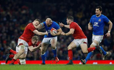 Rugby Union - Six Nations Championship - Wales vs Italy - Principality Stadium, Cardiff, Britain - March 11, 2018 Italy's Leonardo Ghiraldini in action Action Images via Reuters/Paul Childs