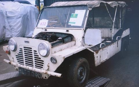 1965 Austin Mini Moke which was used in filming of cult TV series 'The Prisoner' and which now has been restored