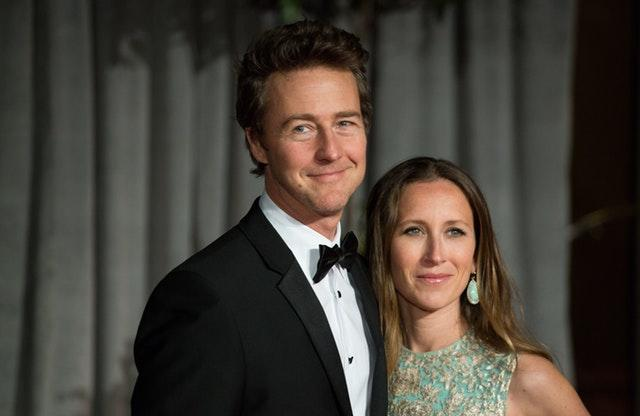 Edward Norton and his wife Shauna Robertson
