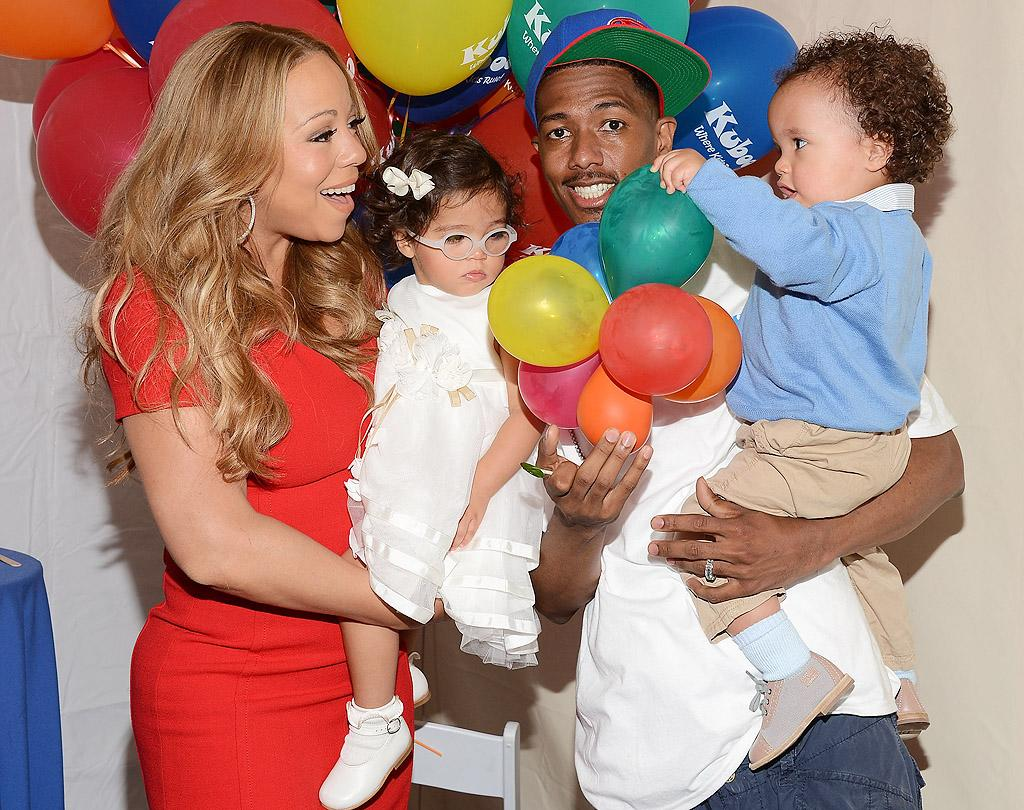 Mariah Carey and Nick Cannon's twins are getting big! Monroe and Moroccan, 17 months, joined their parents at Family Day at the Santa Monica Pier (which Cannon hosted), where the tykes seemed to find the balloons most fascinating! (10/6/2012)