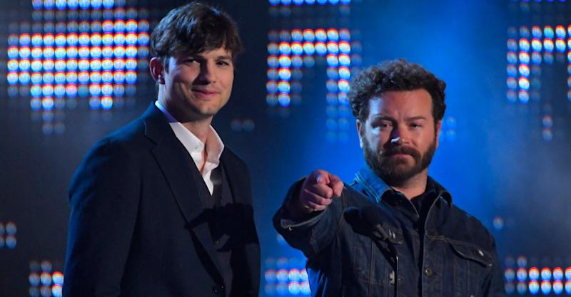 "Actors Ashton Kutcher, left, and Danny Masterson have been working on Part 5 of Netflix's ""The Ranch."" The co-stars are shown here presenting Collaborative Video of the Year awards in Nashville in July."