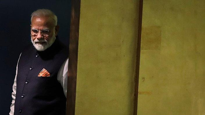 Prime Minister of India Narendra Modi arrives to address the United Nations General Assembly at UN headquarters on September 27, 2019 in New York City. World leaders from across the globe are gathered at the 74th session of the UN General Assembly, amid crises ranging from climate change to possible conflict between Iran and the United States
