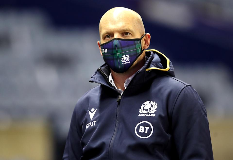 Scotland head coach Gregor Townsend said his team followed social distancing protocols in their post=match celebrations (Jane Barlow/PA)