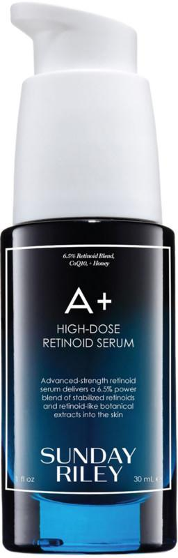 """<h3><a href=""""https://www.ulta.com/a-high-dose-retinoid-serum?productId=pimprod2007849&sku=2550152"""" rel=""""nofollow noopener"""" target=""""_blank"""" data-ylk=""""slk:Sunday Riley A+ High-Dose Retinoid Serum"""" class=""""link rapid-noclick-resp"""">Sunday Riley A+ High-Dose Retinoid Serum</a> </h3> <br>Even if you were more of a B student in high school, you can still reap the benefits of Sunday Riley's powerful retinoid serum, which counters the potency of retinol with botanical ingredients like algae, white honey, bisabolol, cactus extract, and ginger.<br><br><strong>Sunday Riley</strong> A+ High-Dose Retinoid Serum, $, available at <a href=""""https://www.ulta.com/a-high-dose-retinoid-serum?productId=pimprod2007849"""" rel=""""nofollow noopener"""" target=""""_blank"""" data-ylk=""""slk:Ulta Beauty"""" class=""""link rapid-noclick-resp"""">Ulta Beauty</a><br>"""