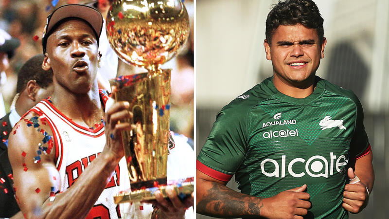 Latrell Mitchell to Michael Jordan, pictured here in their respective sports.