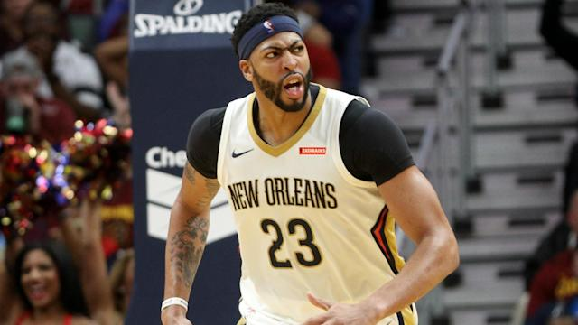 "<a class=""link rapid-noclick-resp"" href=""/nba/players/5007/"" data-ylk=""slk:Anthony Davis"">Anthony Davis</a> is one of the game's best talents, but his future in New Orleans isn't a given. (AP)"