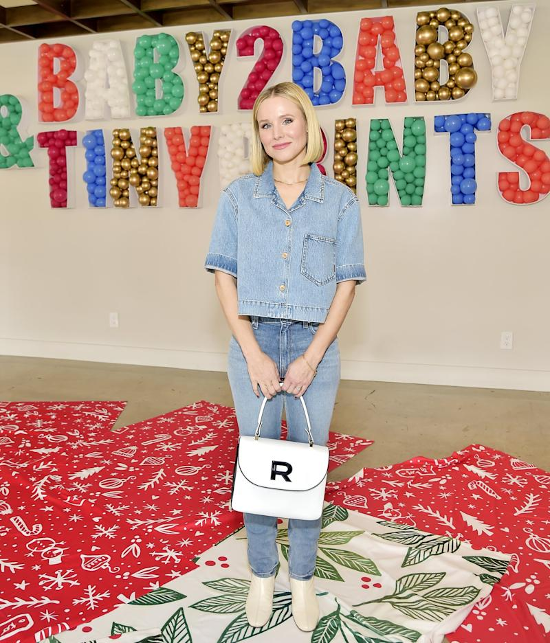 LOS ANGELES, CALIFORNIA - DECEMBER 05: Kristen Bell Hosts The Baby2Baby And Tiny Prints Winter Wonderland at Casita Hollywood on December 05, 2019 in Los Angeles, California. (Photo by Stefanie Keenan/Getty Images for Baby2Baby)