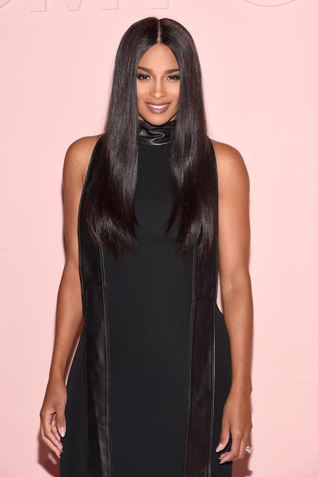 Ciara at the Tom Ford SS18 show in New York city. (Photo: Getty)