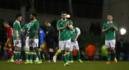 Republic of Ireland's Robbie Brady applauds fans after the match  Action Images via Reuters / Peter Cziborra Livepic