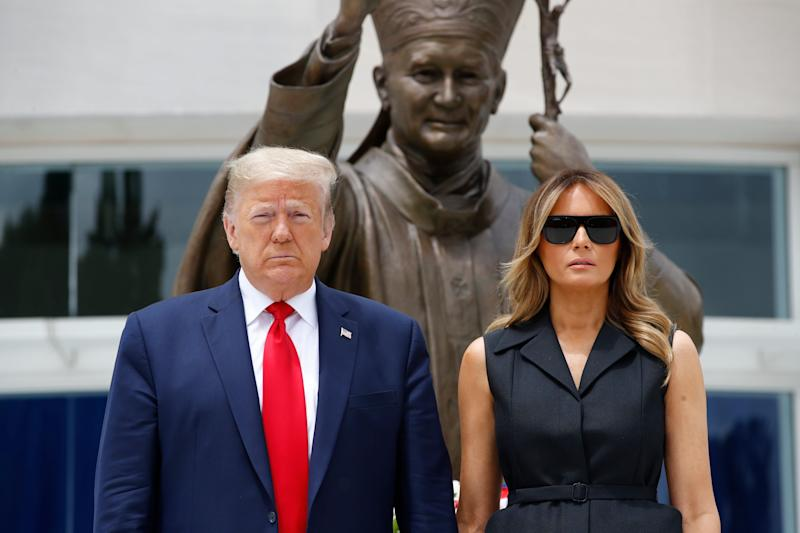 A visit to the Saint John Paul II National Shrine by President Donald Trump and first lady Melania Trump drew a rebuke from Washington's archbishop June 2.