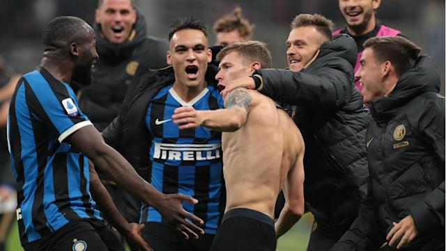 Inter recorded a comeback victory over Hellas Verona to go top of Serie A and bounce back from their collapse against Borussia Dortmund.
