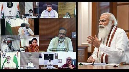 PM Narendra Modi chaired a virtual meeting today with the council of ministers to assess the COVID situation.