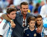 <p>Yes, he looks most like Brooklyn, but tbh he looks a lot like Cruz and Romeo too. So Becks gets extra slides in this gallery.</p>