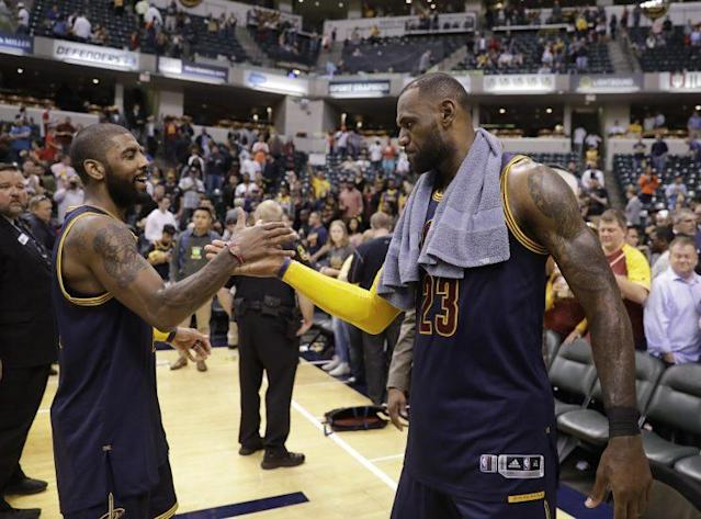The Kyrie Irving and LeBron James partnership appears to be coming to an end. (AP)