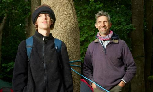'Seeing the trees being ripped down is really hard': meet a father and son protesting against HS2