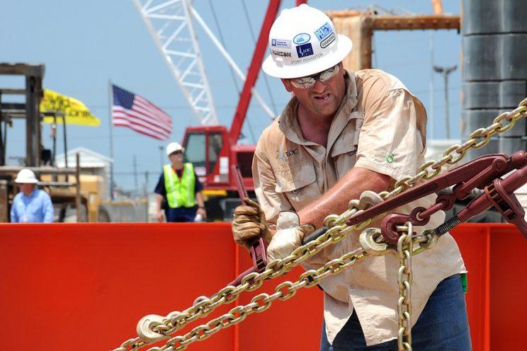 An American oil rig worker.