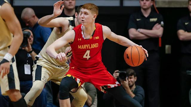 Maryland guard Kevin Huerter impressed scouts with his shooting ability and athleticism at the NBA draft combine. Will the Maryland sharpshooter decide to remain in the draft following his great weekend?