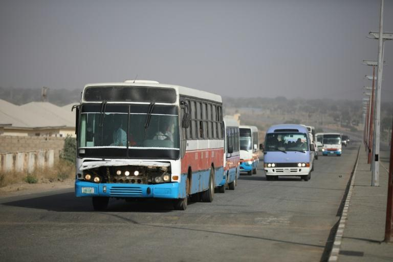 Buses carrying the freed children were given a military escort